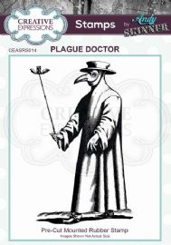 CE Rubber Stamp by Andy Skinner - Plague Doctor - CEASRS014